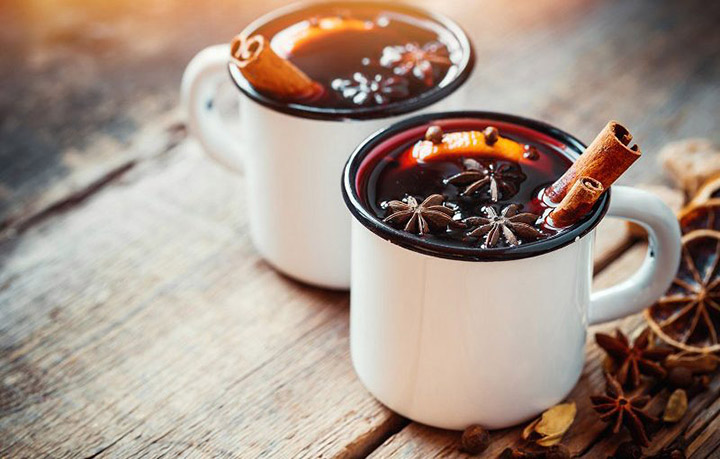 Glass of Armenian Mulled wine