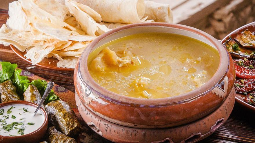 armenian food khash dish