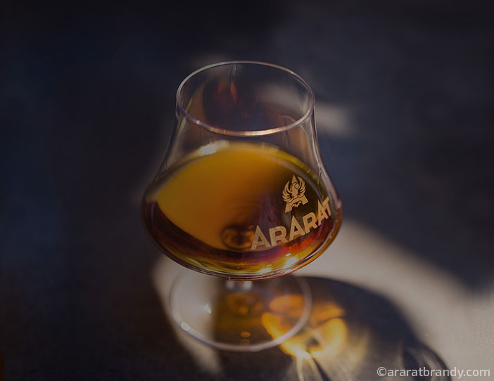 glass of ararat brandy