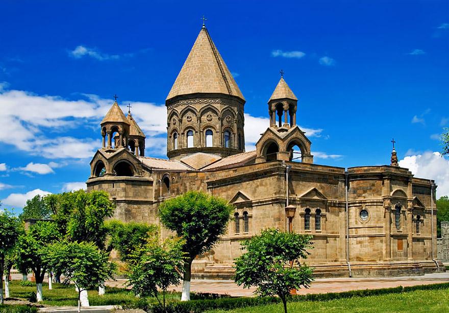 Etchmiadzin Cathedral. UNSECO site in Armenia