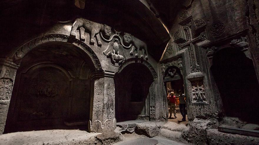 Geghard Monastery. UNESCO site in Armenia
