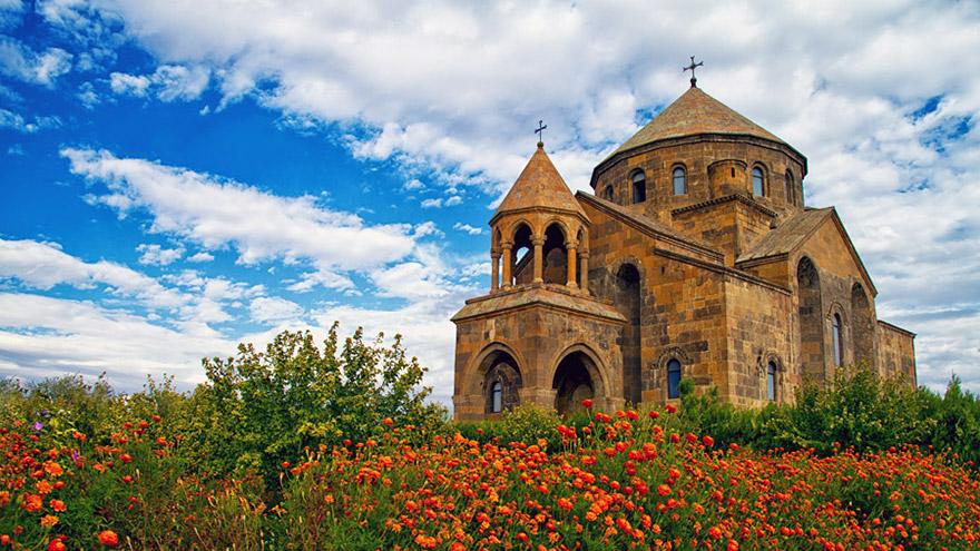 Saint Hripsimeh church. UNESCO site in Armenia
