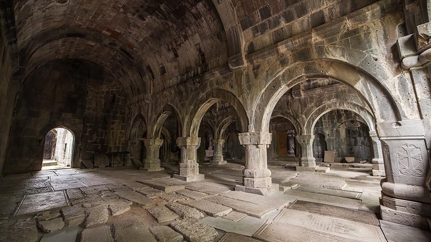 Sanahin Monastery interior. UNESCO site in Armenia
