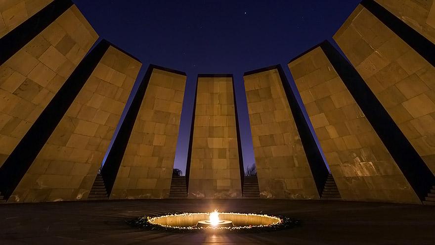 Tsitsernakaberd memorial of Armenian Genocide