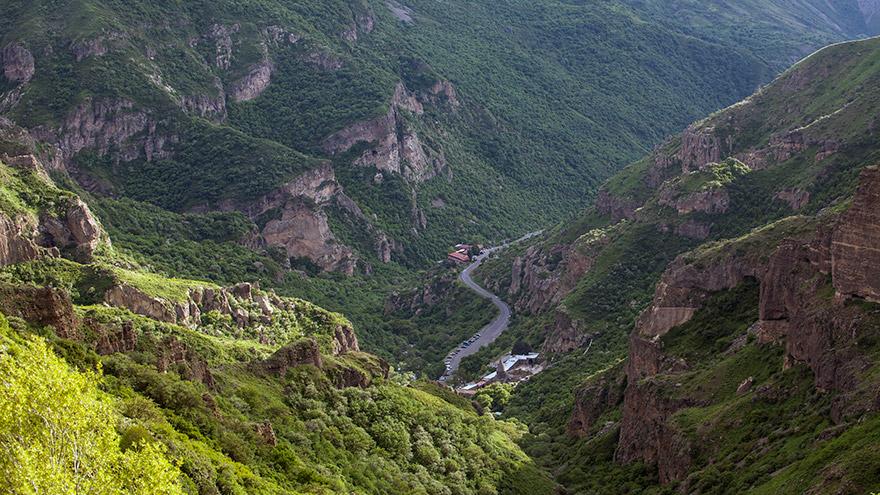 Upper Azat valley. UNESCO sites in Armenia