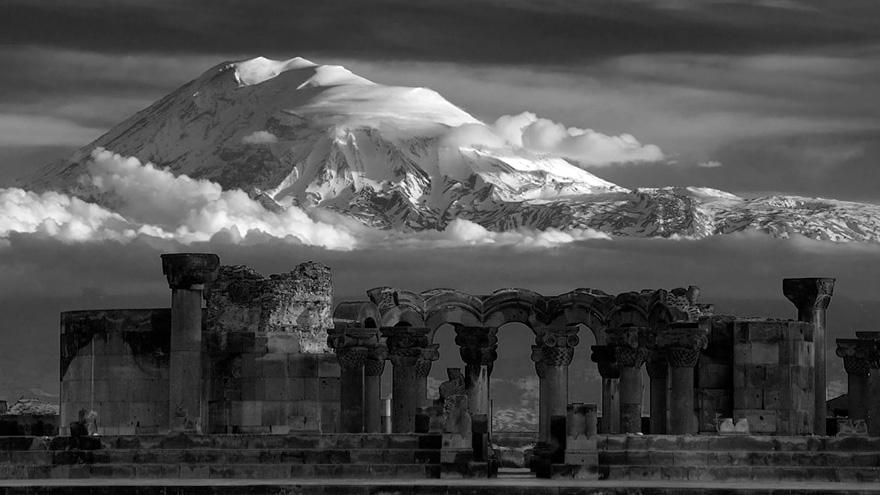 Zvartnots temple, UNESCO site in Armenia