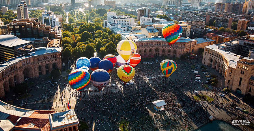 Hot air balloon ride in Armenia
