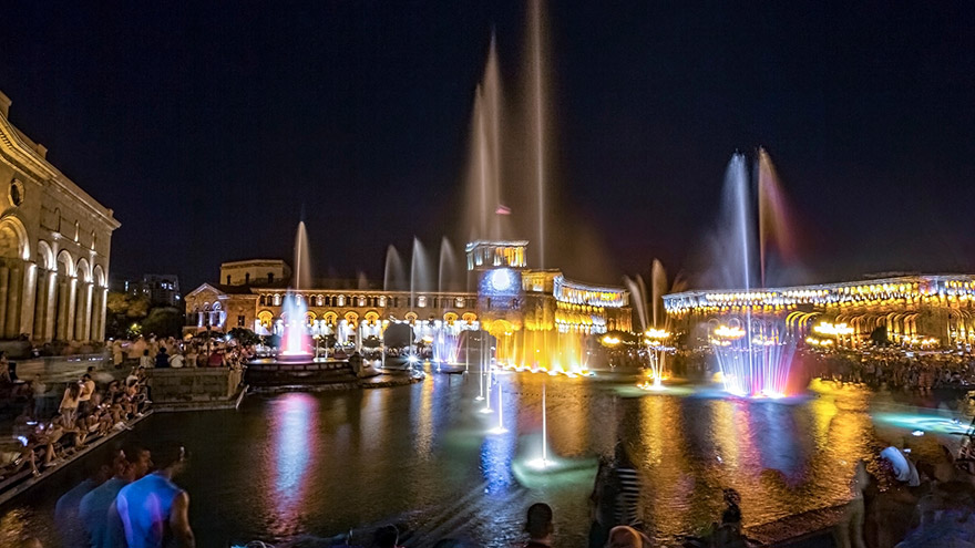 Yerevan Republic Square fountains