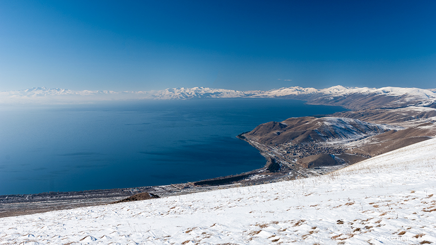Hiking in Lake Sevan