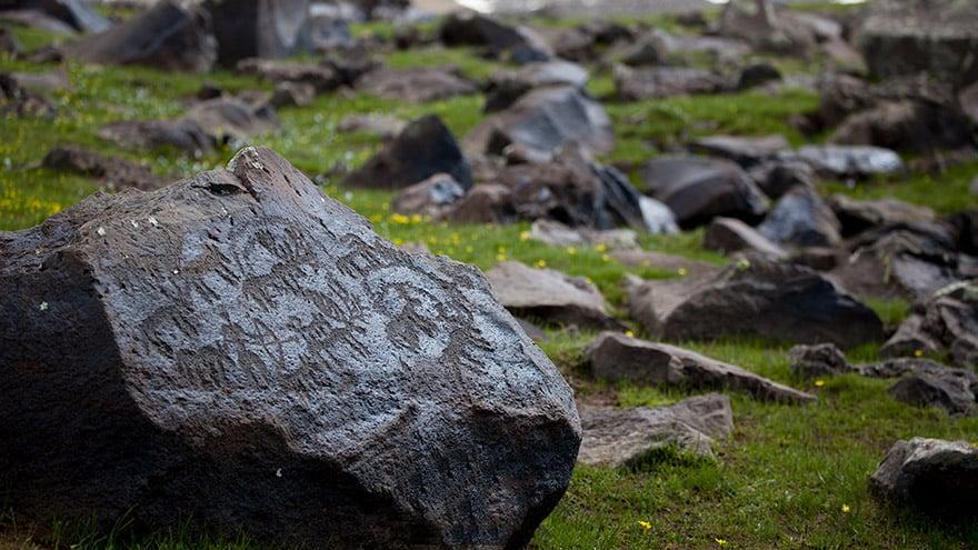 Rock art in Geghama Mountains