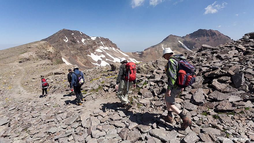 Climbing Aragats Mountain