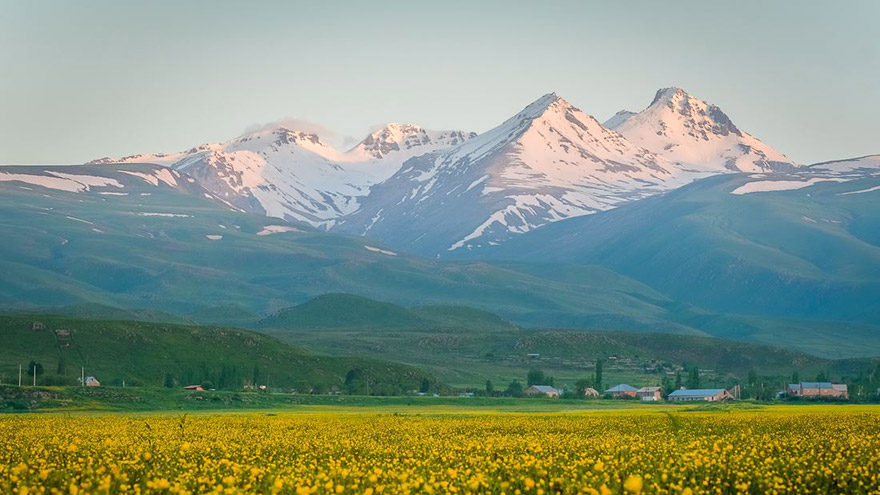 Mount Aragats in spring