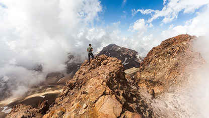 Climbing Mount Aragats North Summit