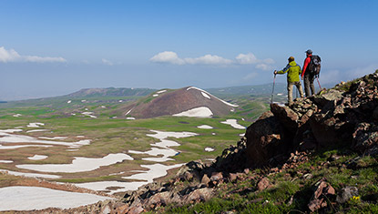 Trekking Geghama Mountains