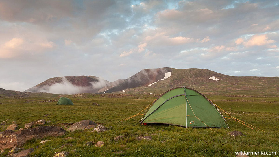 Camping in the Armenian mountains