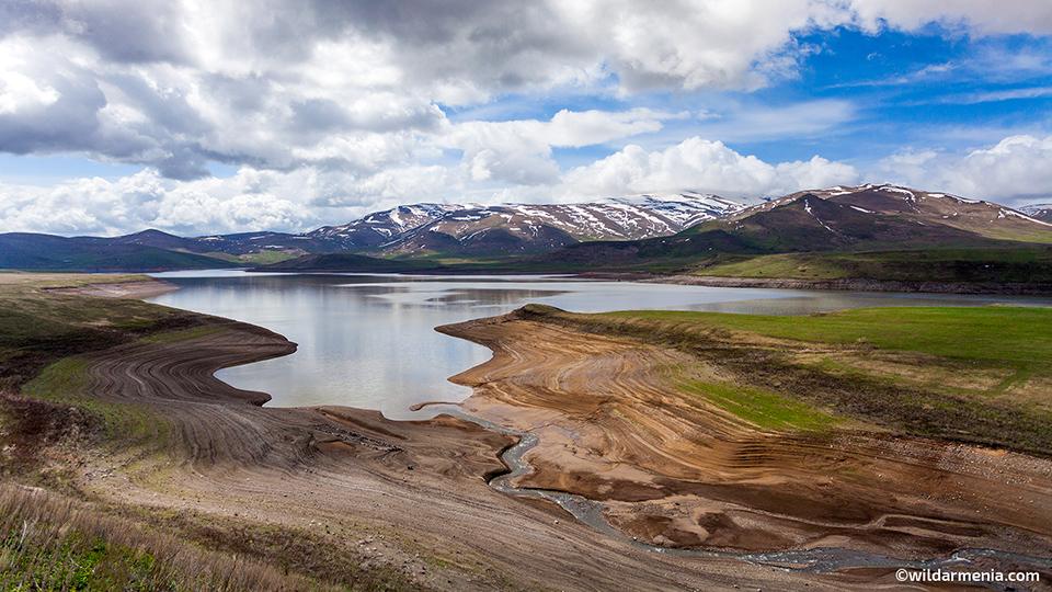 Spandaryan artificial reservoir in Syunik, Armenia
